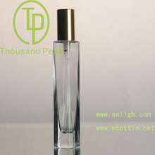 Empty Refillable 50ml Glass Perfume Bottle with Sliver Tone Spray Atomizer Pump Cylinder Shape