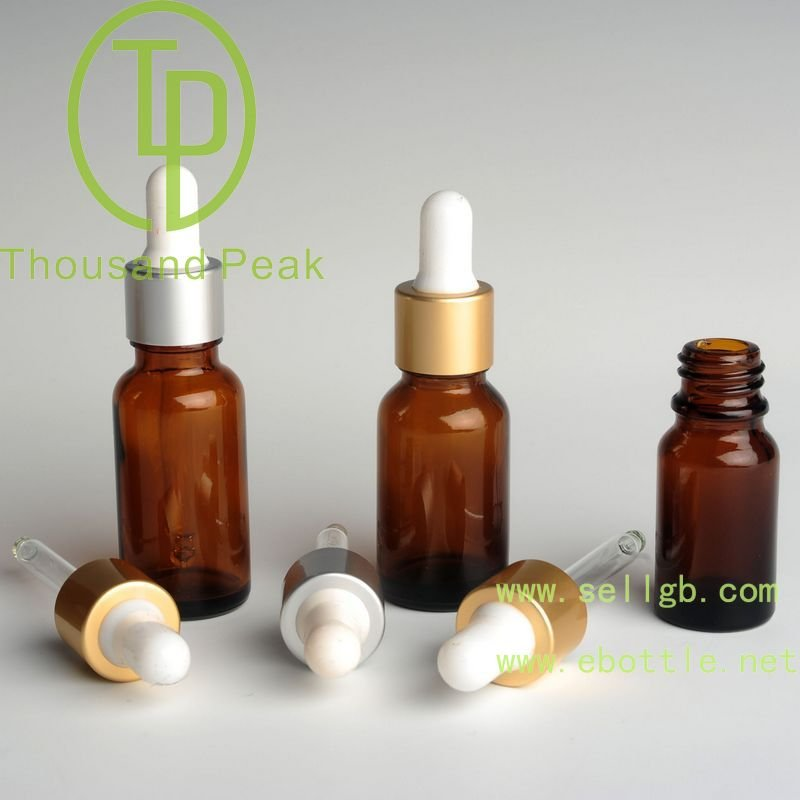 5ml 10ml 15ml 20ml 30ml 50ml 100ml child proof dropper plastic aluminium cap amber glass essential oil bottle