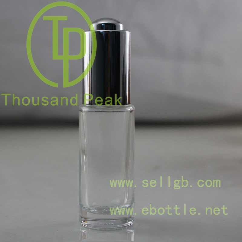20ml Serum Bottle with Gold pipette dropper glass bottle Aluminum Collar