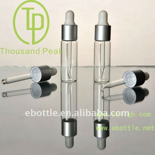 TP-2-10 6ml clear Distribution of glass bottle aluminum ring and a plastic head and droplet plug