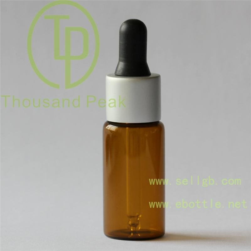 30ml Amber Brown Aromatherapy Glass Bottles, Black Sprayer Atomiser Spray