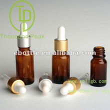 TP-2-25-2 30ml amber essential oil glass bottle with Aluminum dropper