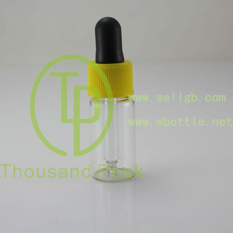TP-2-11-2 5ml cosmetic container, clear essential oil dropper glass bottle