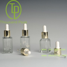 China factory discount 15ml glass dropper bottles with aluminum collar