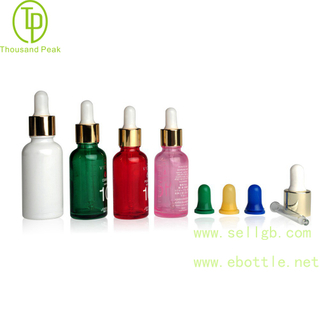 TP-2-34 Multi color Round cosmetic glass dropper bottle