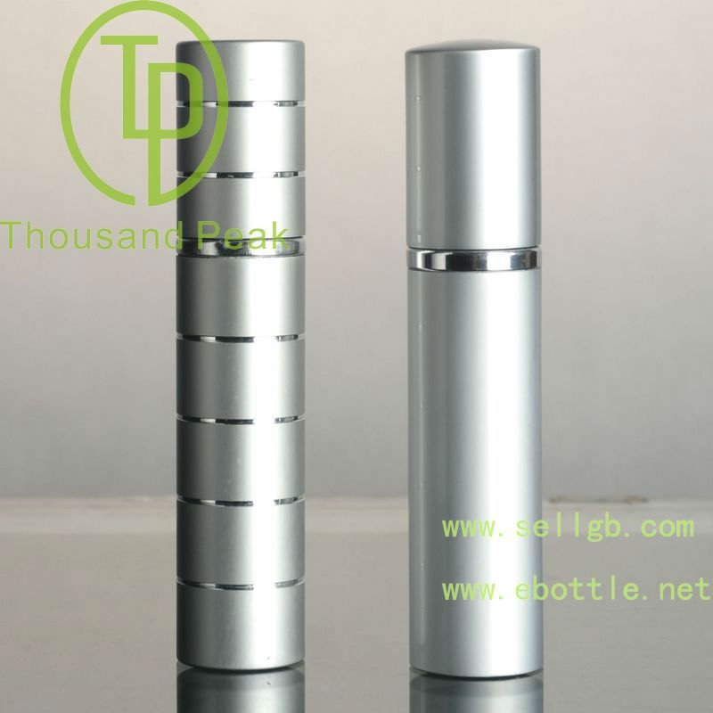 10ml heart printing vial refillable perfume atomizer mini spray empty aluminum glass bottle