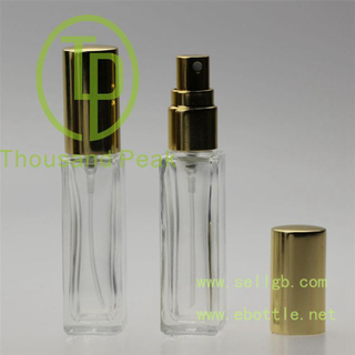 10ml square refilled glass perfume bottle, glass perfume bottle with spray pump