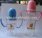 glass baby bottles with logo ,ring,teat,cap and graduation