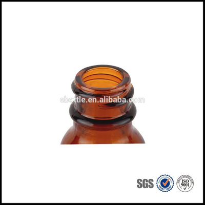 1/2 oz Amber Boston Round Glass Bottle 18mm-400