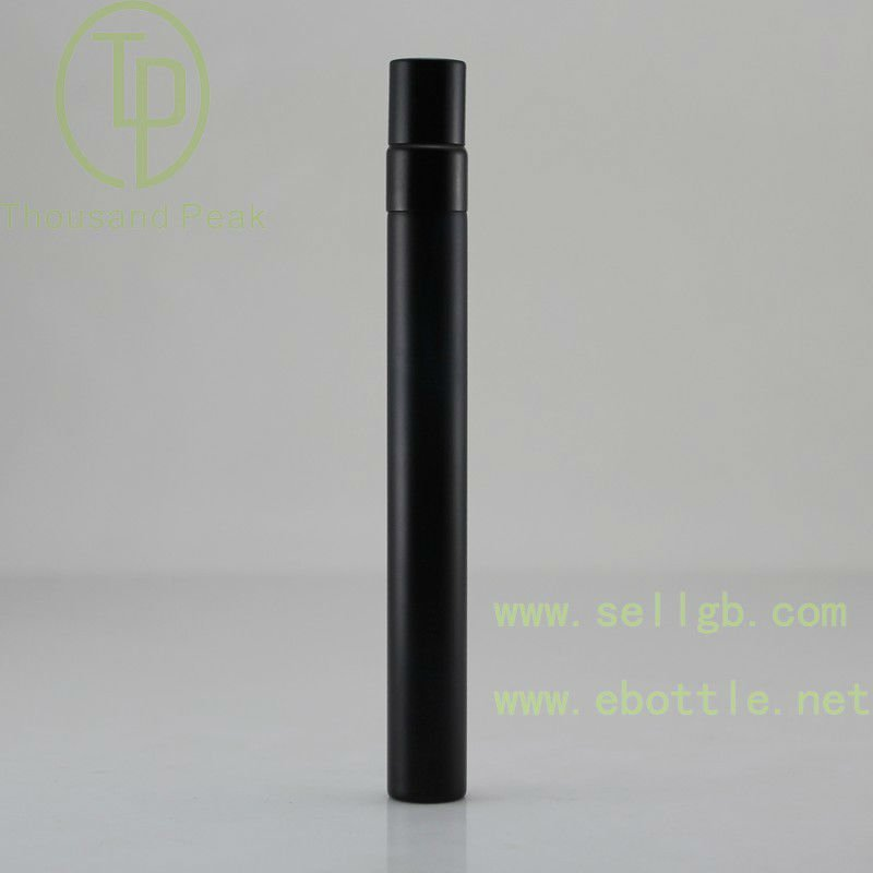Classic 10ml Glass coating black glass perfume bottle with sprayer/atomizer and plastic cap
