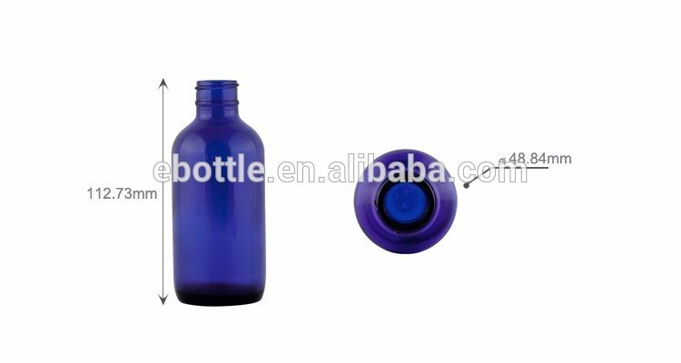 100ml Blue Glass Water Bottle with 22mm-400 Neck