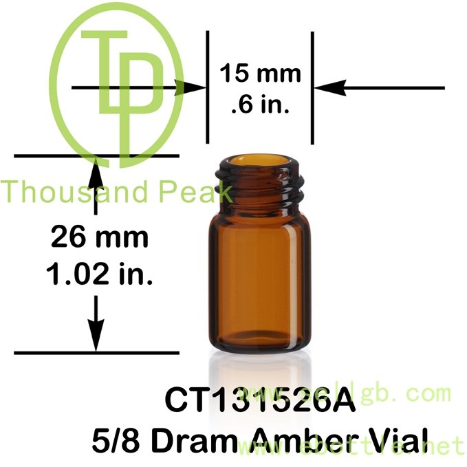 1ml amber essential oil vials with reducer and screwcap