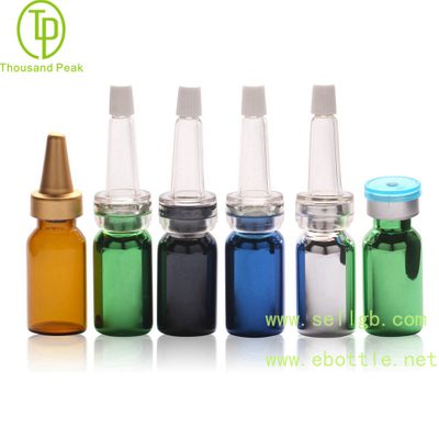 TP-2-01 tube 3ml 5ml facial care metalized glass bottle with soft trumpet head