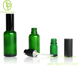 TP-2-26 Green glass bottle with Al Pump