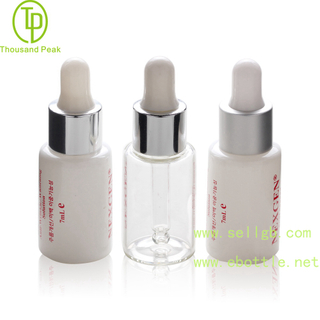 TP-2-145 White color 7ml cosmetic glass dropper bottle