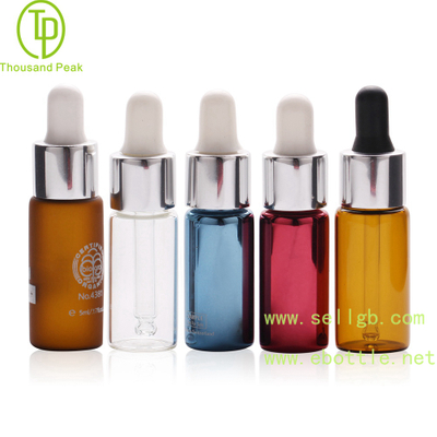 TP-2-143 Multi color 5ml cosmetic glass dropper bottle
