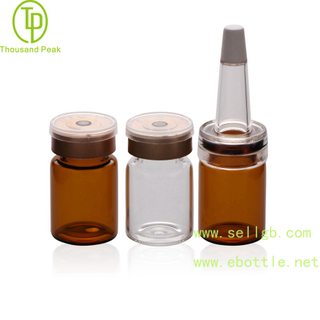 TP-2-03 cosmetic packaging tube 5ml facial care glass bottle with soft trumpet head