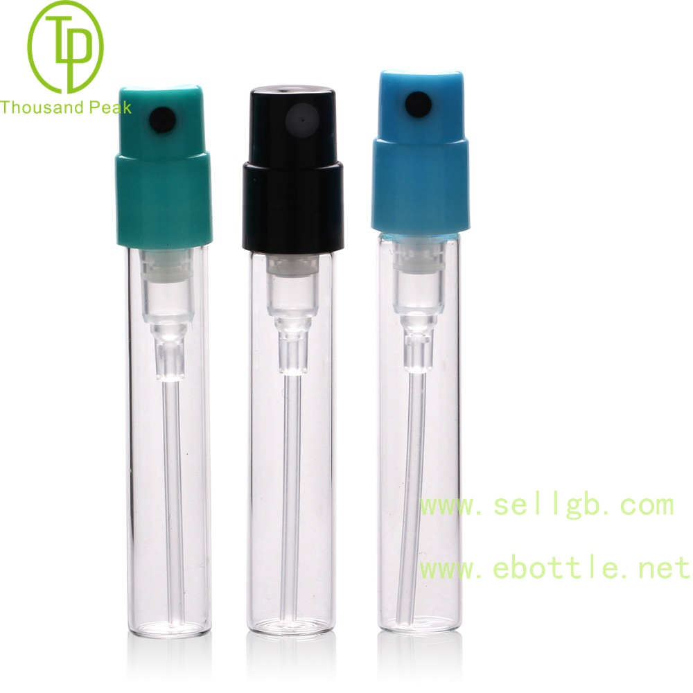 TP-3-51 2ml Empty Mini perfume glass bottle with sprayer,Perfume Sampler