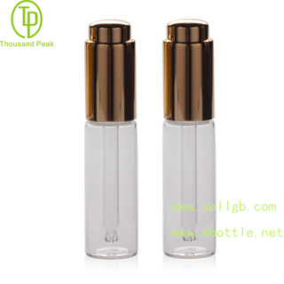TP-2-160 15 ml cosmetic glass push dropper bottle